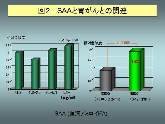 図2.SAAと胃がんとの関連