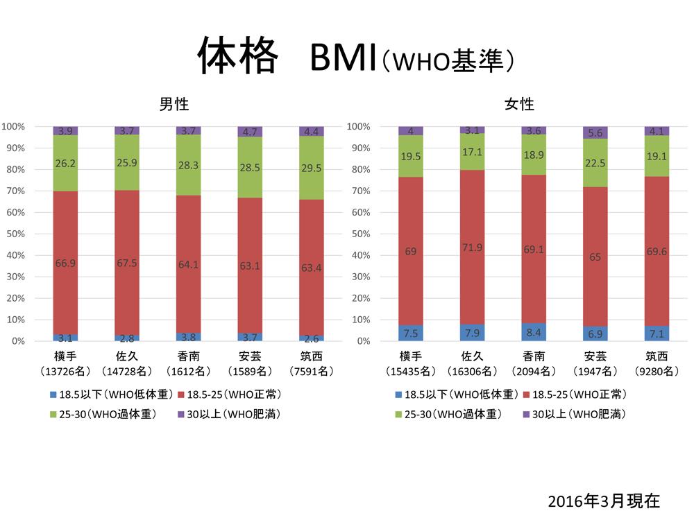 アンケート結果/体格BMI